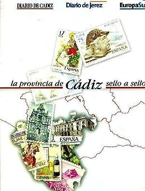 LA PROVINCIA DE CADIZ SELLO A SELLO. 57 REPRODUCCIONES DE SELLOS-CROMOS A COLOR: GALLARDO ALVARADO,...