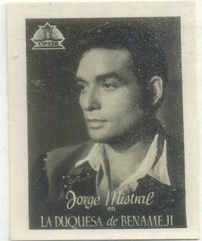 POSTAL DE CINE 9x7 cm: JORGE MISTRAL