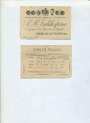 LISTA DE PRECIOS A.R. VALDESPINO-JEREZ FRA. (FRANCES)