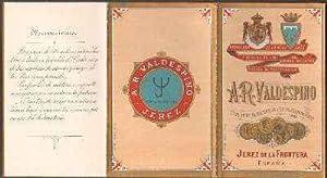 LISTA DE PRECIOS EN TRIPTICO. A.R. VALDESPINO--JEREZ