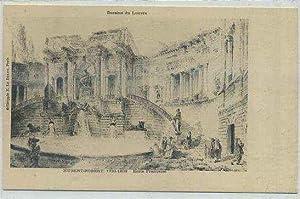 POSTAL ANTIGUA DE ARTE. LOUVRE. HUBERT-ROBERT 1733-1808.