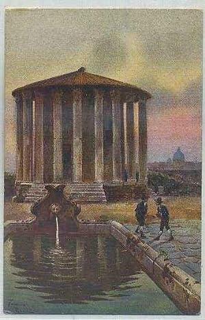POSTAL ANTIGUA DE ARTE. ROMA. TEMPIO DI