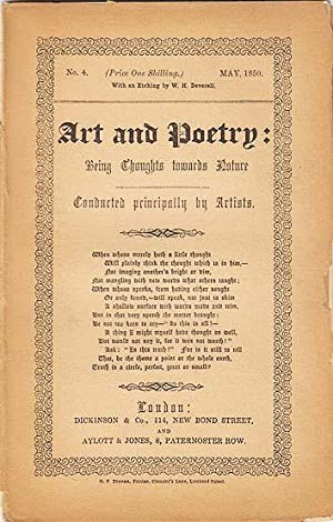 ART AND POETRY: BEING THOUGHTS TOWARDS NATURE CONDUCTED PRINCIPALLY BY ARTISTS [THE GERM], NO. 4