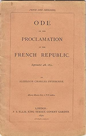 ODE ON THE PROCLAMATION OF THE FRENCH REPUBLIC, SEPTEMBER 4TH 1870