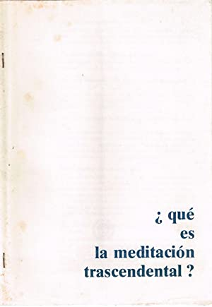 Que es la Meditacion Trascendental folleto