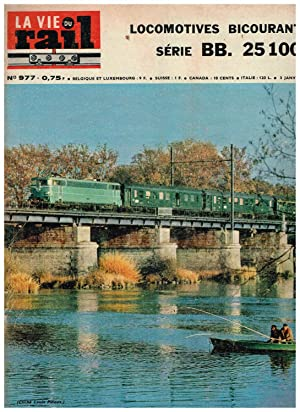 La Vie du Rail .Nº 977 Locomotives Bicourant serie BB. 25 100. 3 Janvier 1965