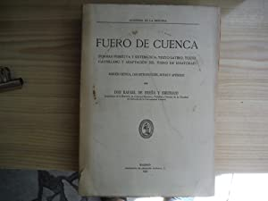 FUERO DE CUENCA: UREÑA Y SMENJAUD, Rafael de