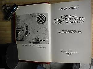 POEMAS DEL DESIERTO Y DE LA ESPERA: ALBERTI, Rafael