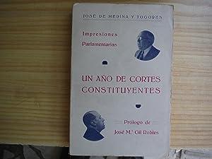 UN AÑO DE CORTES CONSTITUYENTES. IMPRESIONES PARLAMENTARIAS: MEDINA Y TOGORES, José de
