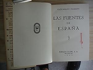 LAS FUENTES DE ESPAÑA: JUARISTI, Victoriano