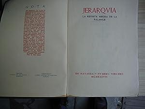 JERARQUIA. REVISTA NEGRA DE LA FALANGE: JERARQUIA