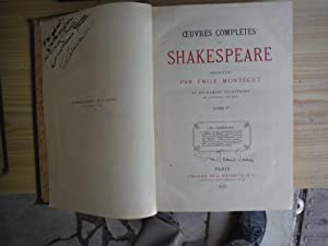 OEUVRES COMPLETES: SHAKESPEARE, William