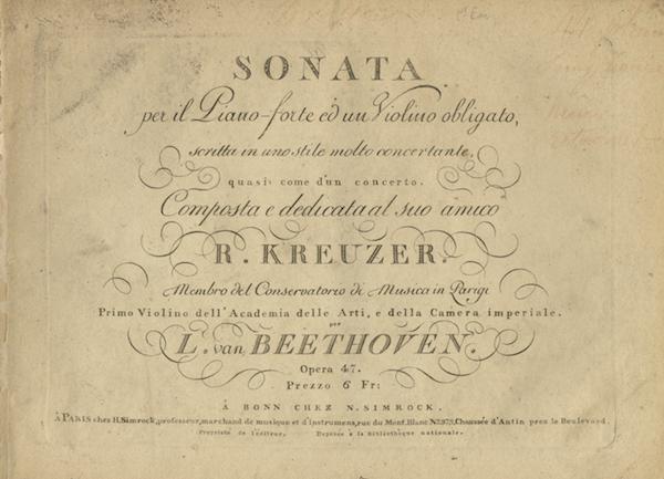[Op. 47]. Sonata per il Piano-forte ed un Violino obligato, scritta in uno stile concertante, quasi...
