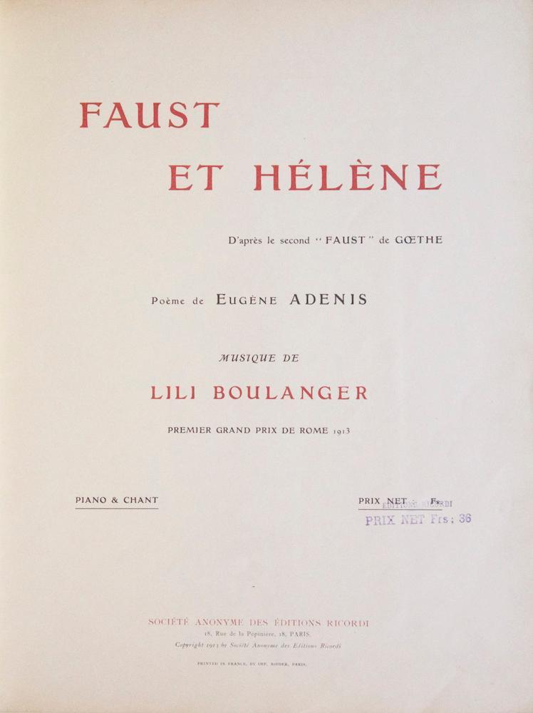 """Faust et Hélène D'après le second """"Faust"""" de Goethe Poè..."""