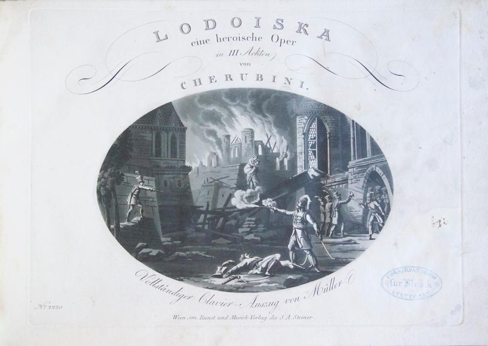 Lodoiska eine heroische Oper in III Ackten. Vollständiger Clavier=Auszug von Müller. No. ...