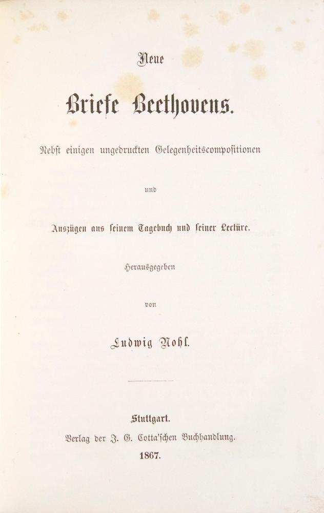 Briefe Beethoven : Beethoven briefe beethovens zvab