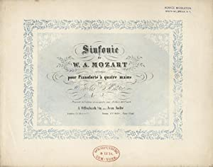 """K 551]. Sinfonie [""""Jupiter""""]. arrangée pour Pianoforté à quatre ..."""