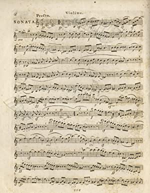 Op. 23]. Sonate pour Piano-Forte et Violon. Oeuv. 23. [Violin part only]: BEETHOVEN, Ludwig van ...