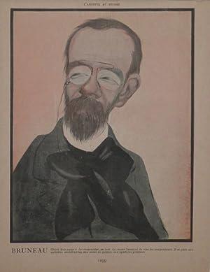 Portrait caricature by Aroun-al-Rascid [pseud. Umberto Brunelleschi] (1879-1949): BRUNEAU, Alfred ...