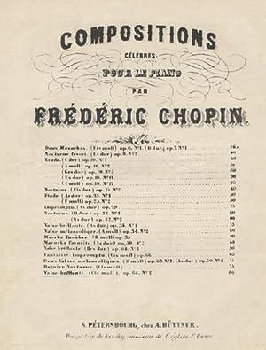 Op. 64, no. 2]. Compositions célèbres pour le piano par Frédéric Chopin...