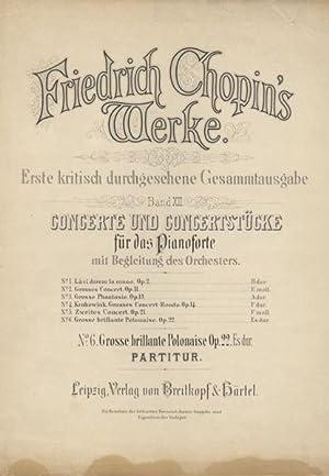 Op. 22]. Grosse brillante Polonaise für das: CHOPIN, Frédéric 1810-1849