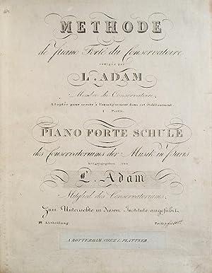Methode de Piano Forté du Conservatoire redigée: ADAM, Jean Louis