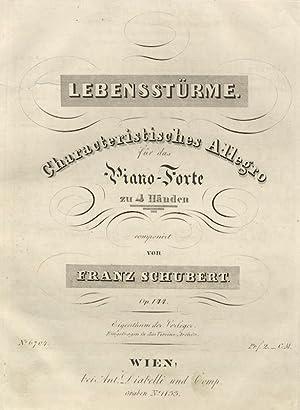 Op. 144 / D947]. Lebensstürme. Characteristisches Allegro für das Piano-Forte zu 4 H...