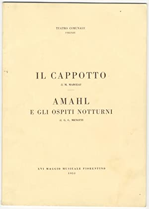 Amahl e gli ospiti notturni (Amahl and the Night Visitors). Program for the first performance in ...