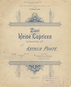 Op. 27, no. 5 and 9]. Zwei kleine Capricen (aus dessen Etuden op. 27). No. 1 1/6.No. 2 2/...