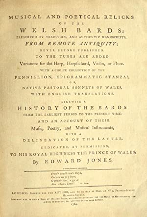 Musical and Poetical Relicks of the Welsh: JONES, Edward 1752-1824