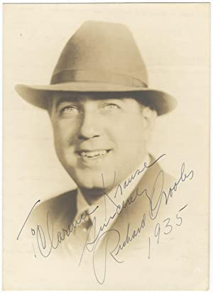 """Photograph signed in full, dated, and inscribed to """"To Clarence Krause sincerely Richard Crooks..."""