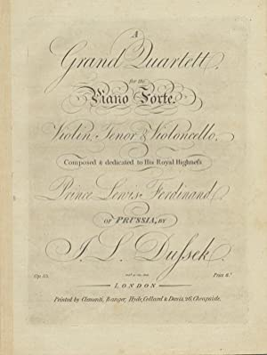 Op. 56]. A Grand Quartett, for the Piano-Forte, Violin, Tenor [i.e. viola] & Violoncello, ...