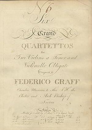 Six Grand Quartettos for Two Violins a Tenor and Violoncello Obligato Compos'd by Federico ...