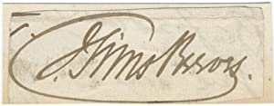 """Autograph signature (""""J. Sims Reeves"""") of the noted English tenor: REEVES, Sims (John) ?..."""