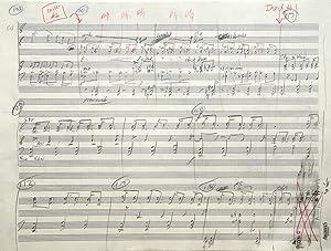 An American Requiem for Mezzo-Soprano, Tenor and Baritone, Chorus (SATB), and Orchestra. Autograph ...