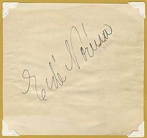 Autograph signature: NORÉNA, Eidé 1884-1968