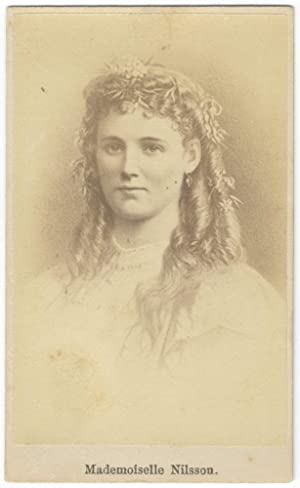 Bust-length carte-de-visite photograph of the noted Swedish soprano: NILSSON, Christine 1843-1921