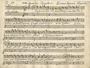 [Caption title:] Atto Secondo Terzetto. Musical manuscript short score. Late 18th century: ANON
