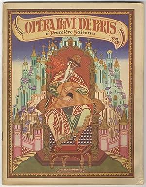 Prince Igor]. Opéra Privé de Paris Première Saison 1929. Souvenir program for ...