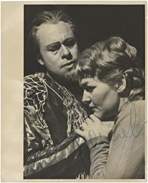 Bust-length role portrait photograph of the soprano as Senta in Wagner's Der fliegende Holländer,...