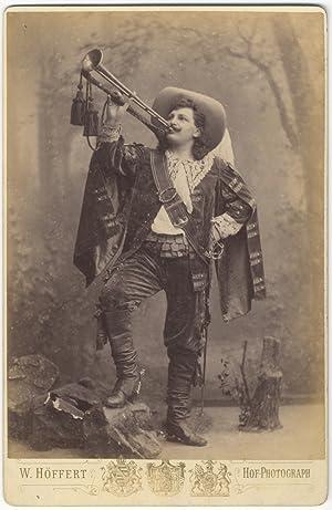 Full-length role portrait cabinet card photograph as Werner in Der Trompeter von Säkkingen by ...