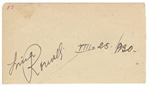 Autograph signature dated August 25, 1930