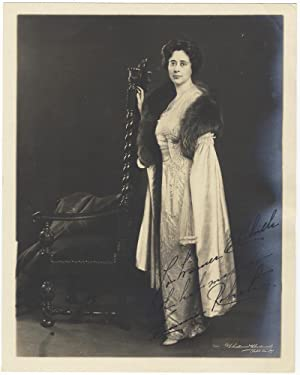 Fine original full-length photograph of the contralto, signed in full and inscribed to Warner E. ...