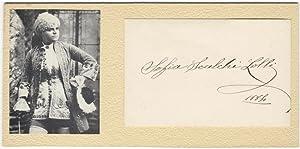 """Autograph signature (""""Sofia Scalchi-Lolli"""") of the noted Italian contralto dated 1884: ..."""