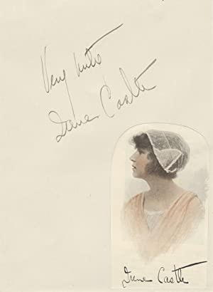Pair of inscribed and signed album leaves with bust-length reproduction portraits of the noted Am...