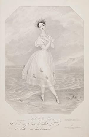 Fine large lithograph of the noted Romantic ballerina as the Naiade in the ballet of The Sleeping...
