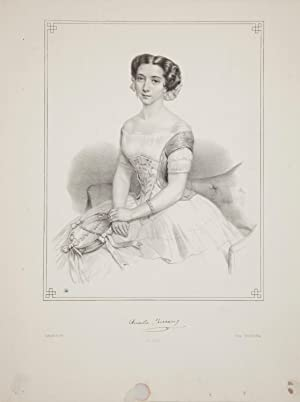 Original three-quarter length lithograph by Battistelli