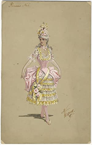 Collection of 21 original costume designs for ballets and theatrical performances by the British ...