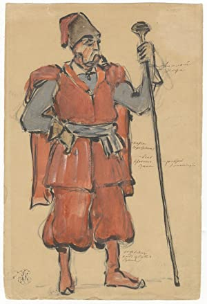 Original costume design by the important Russian artist Konstantin Alekseyevich Korovin (1861-193...