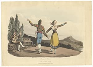 Danse de Boleras The Boleras Dance. Handcoloured aquatint by I. Clark after William Bradford depi...